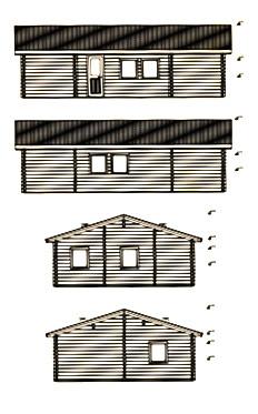 Alzados de kit de casas de madera Ursula