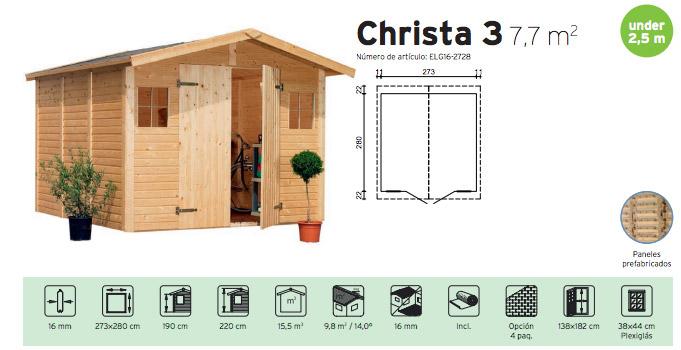 Caseta prefabricada de madera christa 3