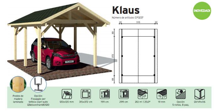 porche de madera kit klaus