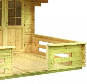 montaje de casita de jardin machihembrada