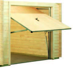 puerta garaje de madera basculante