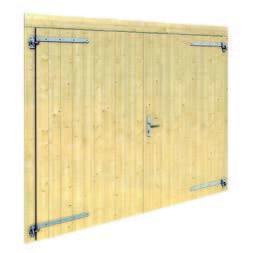 puerta garaje de madera