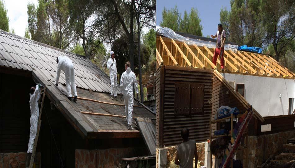 Mantenimiento y reparación de casas prefabricadas y casas de madera